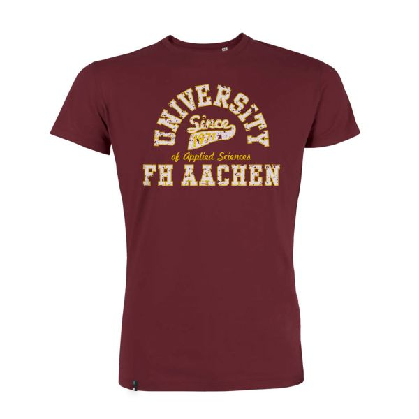 Herren Organic T-Shirt, burgundy, berkeley