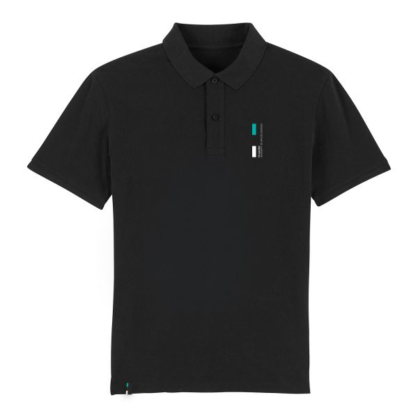Herren Organic Polo Shirt, black, corporate