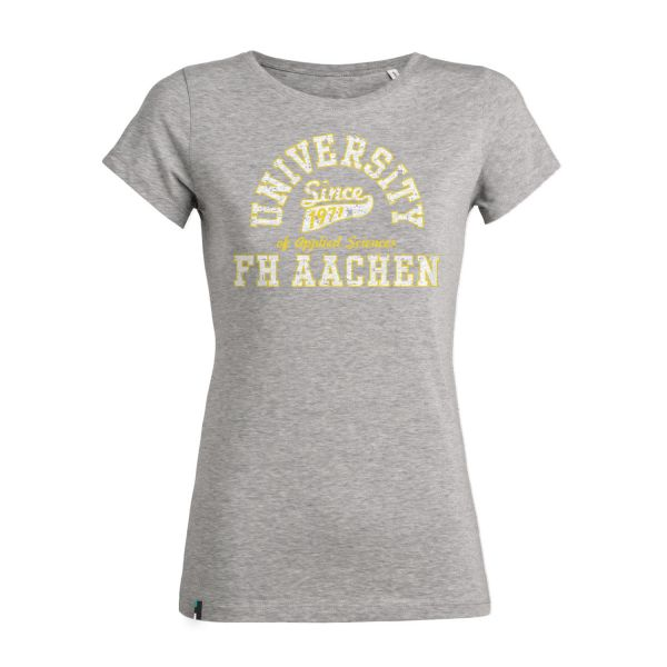 Damen T-Shirt, heather grey, berkley