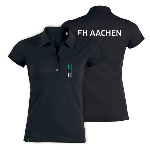 Damen Polo Shirt, black, corporate