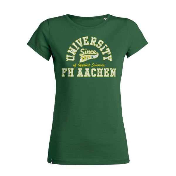 Damen T-Shirt, college green, berkley