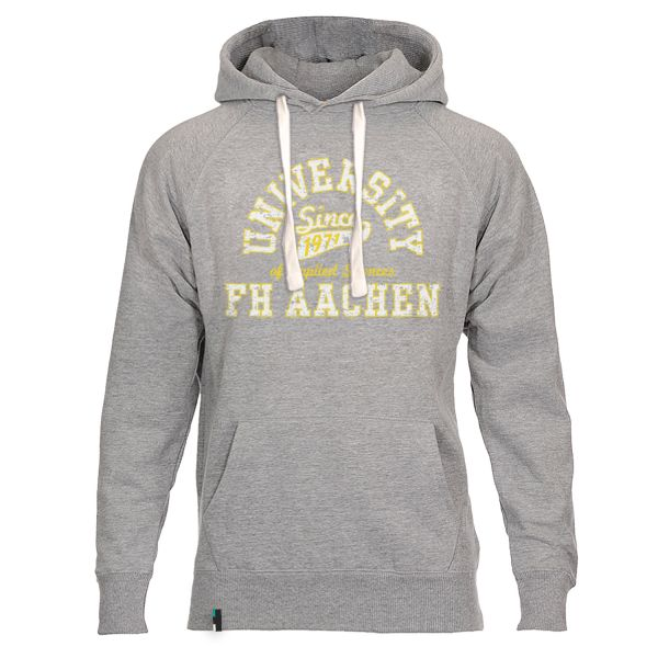 Herren Hooded Sweatshirt, heather grey, berkley