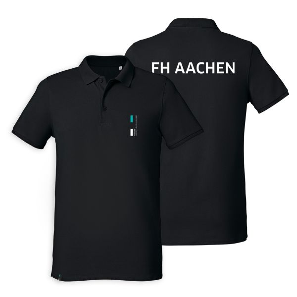 Herren Polo Shirt, black, corporate