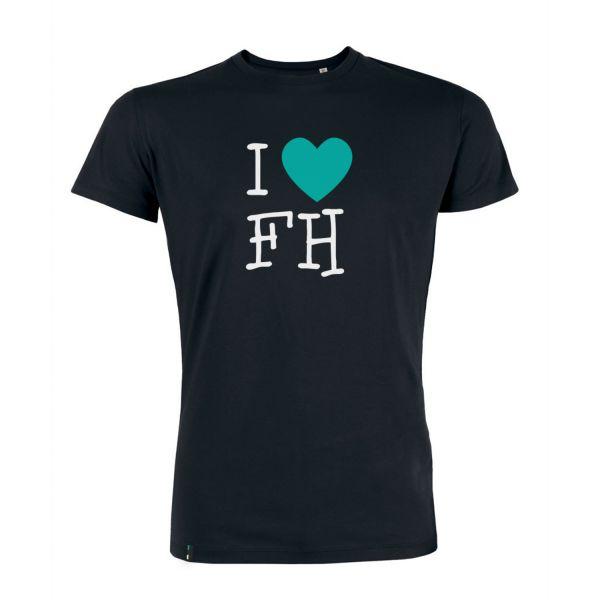 Herren Organic T-Shirt, black, FH You