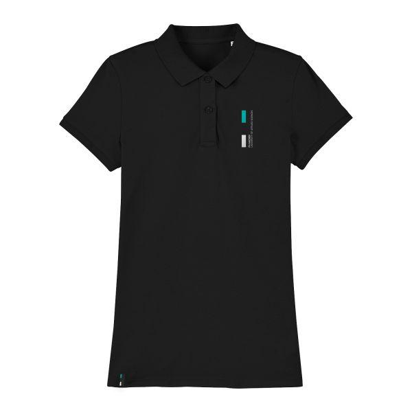 Damen Organic Polo Shirt, black, corporate