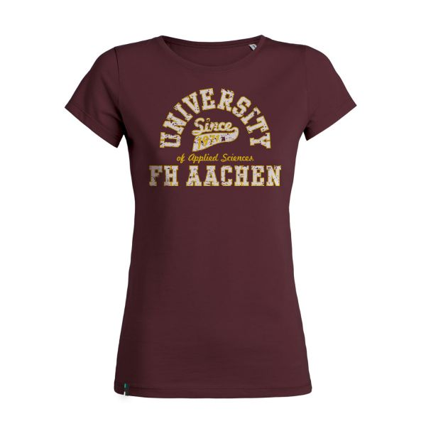 Damen Organic T-Shirt, burgundy, berkley